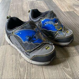 Batman Light Up Velcro Kids Sneakers Non Marking